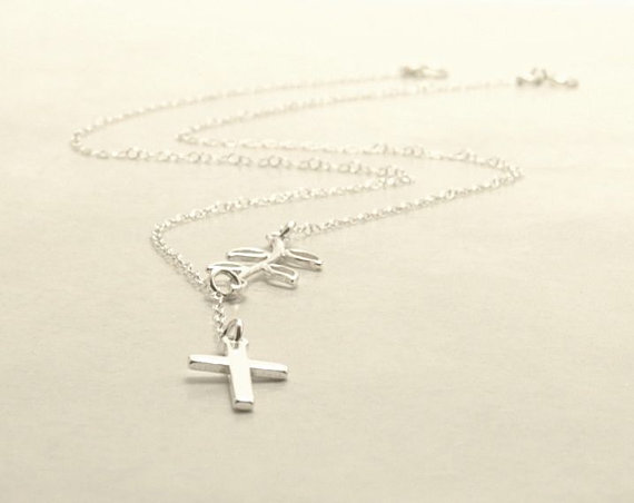 olive.branch.cross.necklace